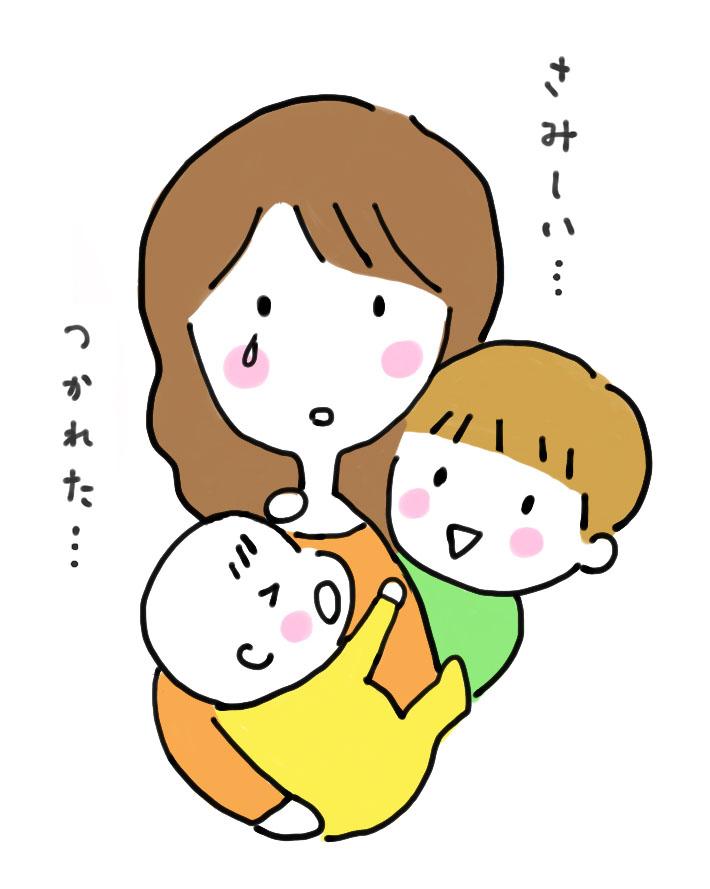 子育て中のママのイラスト